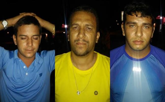 Três são presos com armas em Santa Cruz